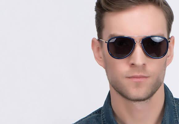 Sunglasses blue man EyeBuyDirect