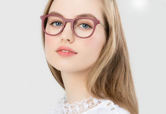 Eyeglasses Red woman EyeBuyDirect