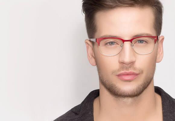 Eyeglasses Red Man EyeBuyDirect