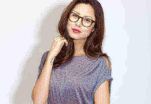 Brown Eyeglasses Woman
