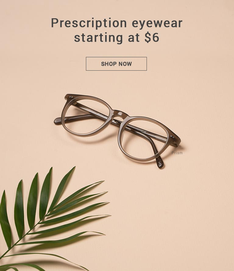 Prescription eyewear starting at 6$