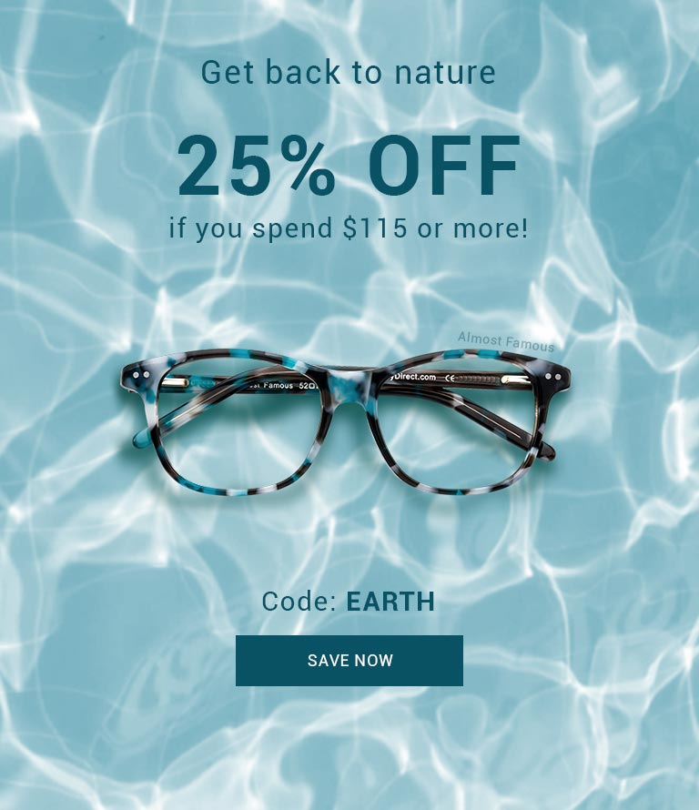 Get back to nature  Discover ocean blue, sage green, earthy brown frames or any color of the rainbow