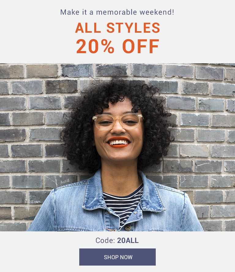 Make it a memorable weekend!   All styles 20 off   3 DAYS ONLY